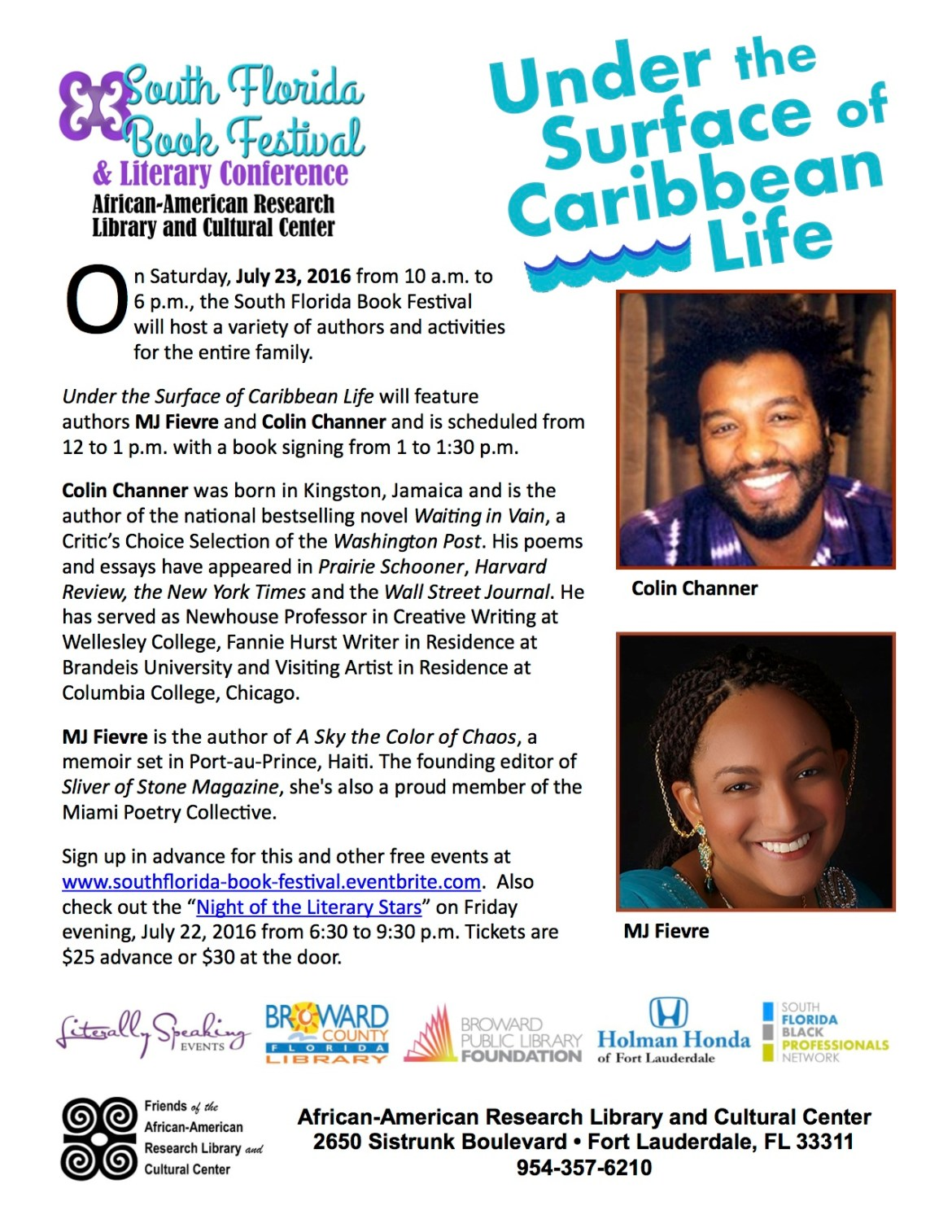2016 SFBF Caribbean authors