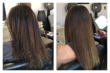 Before and After Keratin Treatment of Janet with MJ Hair Designs