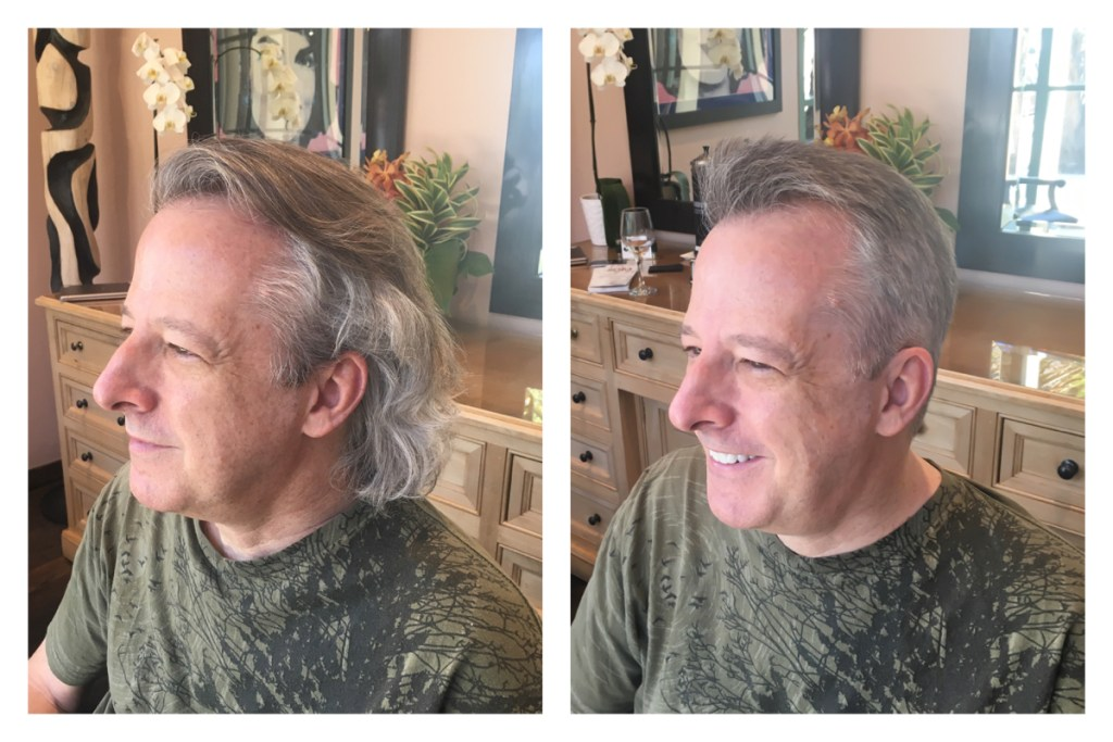 Before and After Mens Short Haircuts