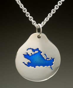 lake winnipesaukee pendant silver