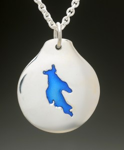 newfound lake pendant silver