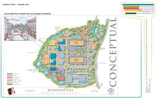 Sample Work - Buckwalter Place Mixed-use Masterplan
