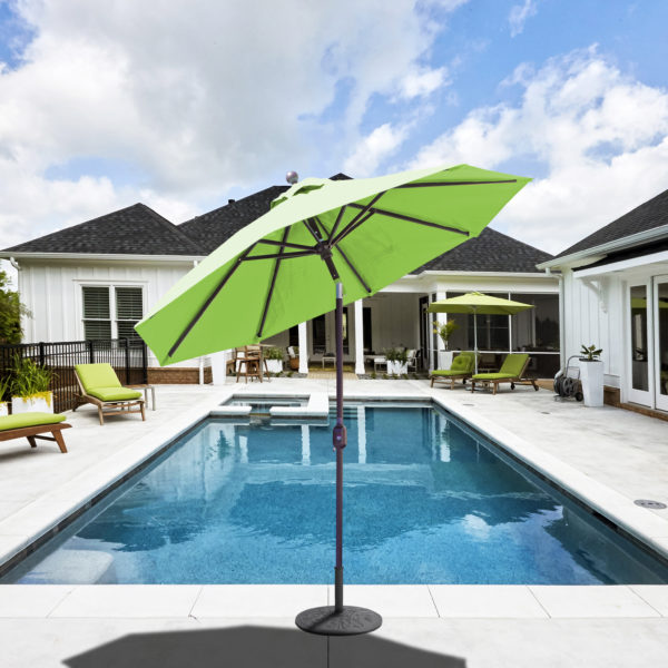 aluminum patio umbrella sunbrella canvas 7 5 auto tilt