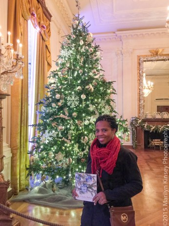 Me, at the entrance to the East Room