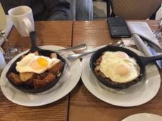 Sunnyside Up & Duck Hash Potato and Butternut Squash & Potato Hash