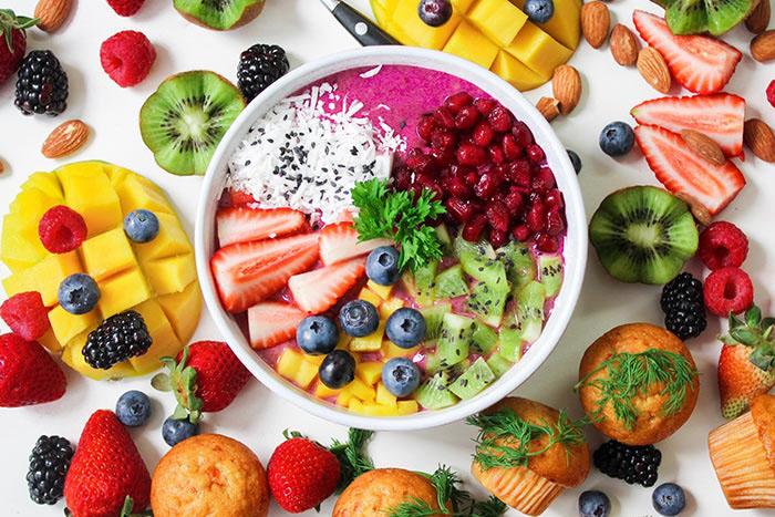 Nutrition: spread of fruit