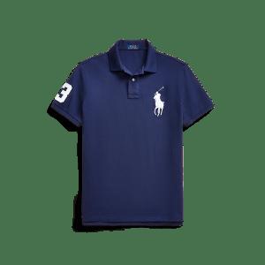 Short Sleeve Big Pony Mesh Polo – Custom Slim