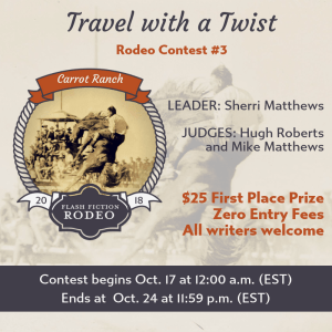 Rodeo #3: Travel with a Twist – The Winning Entries and my flash