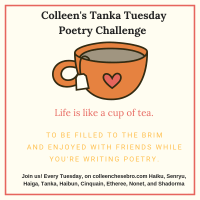 Colleen's 2020 Weekly #Tanka Tuesday #Poetry Challenge No. 164 #SynonymsOnly