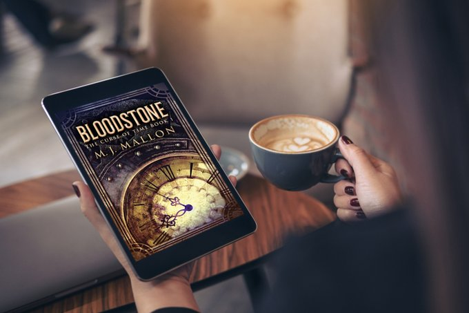 Bloodstone (The Curse of Time Book 1) Coffee and Bookish Chit Chat with MJ. Art Coming Alive #YA #Fantasy @NextChapterPB #Art #Inspirations