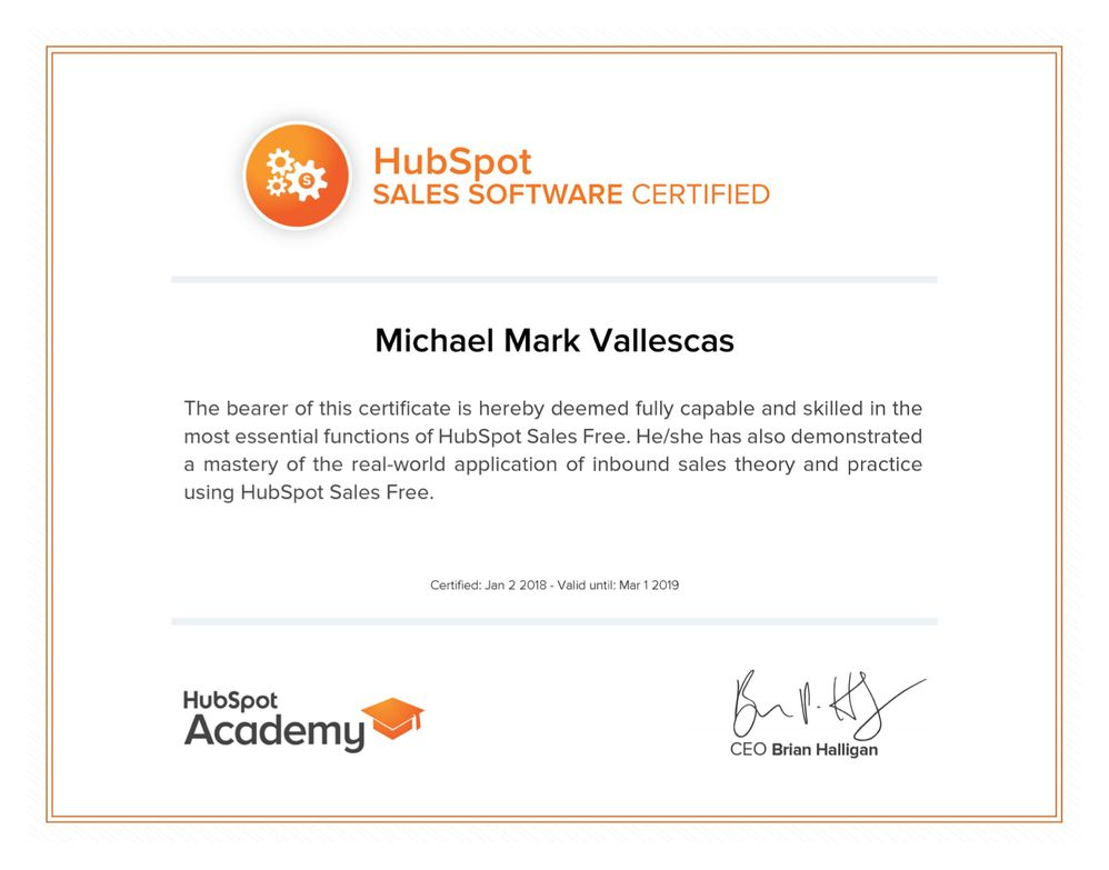 Solved Hubspot Community Download Printable Certificate