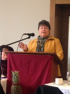 Speaking at Daughters of the American Revolution