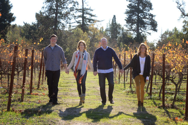 family photo in vineyard