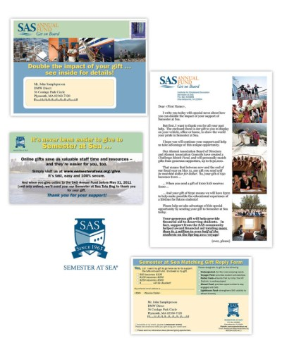 Direct Mail | DMW Direct | Semester at Sea Annual Fund package