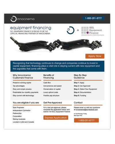 Landing Page | innocinema | SCL Equipment Finance