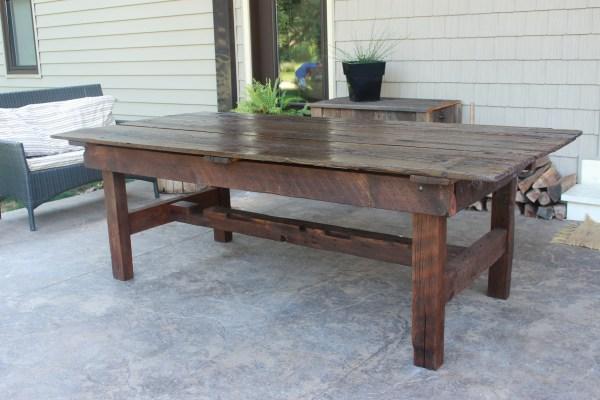 Barn Door Harvest Table