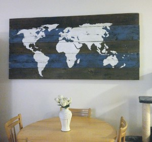 Barn Board World Map