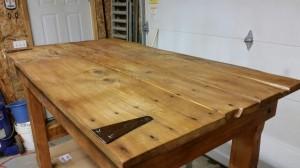 Rustic Pine Barn Door Table