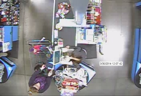 Suspect Before Snatching Wallet