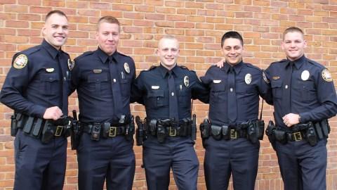 (L-R) Officer Engstrom, Officer Thornhill, Officer Dean, Officer Watkins, & Officer Anderson