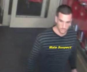 Case #15-20243, Freudulent Use of Credit Card, Male Suspect #1, Exit Vestibule at Target