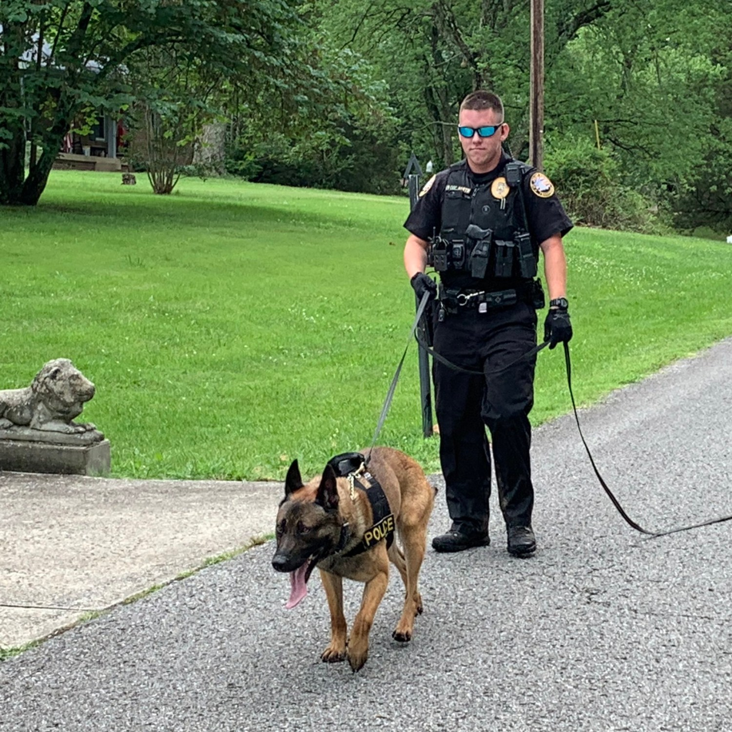 Officer Barth with K9 Majlo
