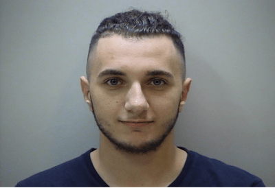 Booking photo of Mina Gerges, 20, of Nashville
