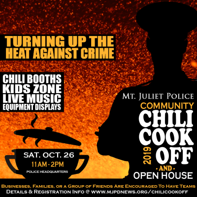 Chili Cook Off Flyer. Information on flyer follows in text.