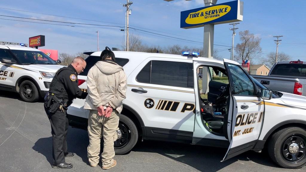 Stolen Car Scene w/ Suspect