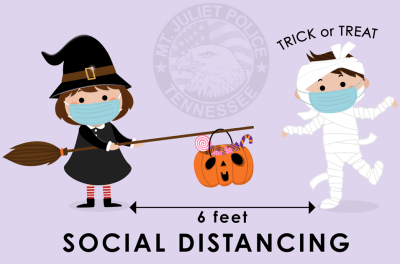 Halloween Social Distance Graphic