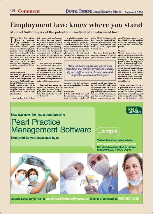 Dental Tribune article (p1/2)