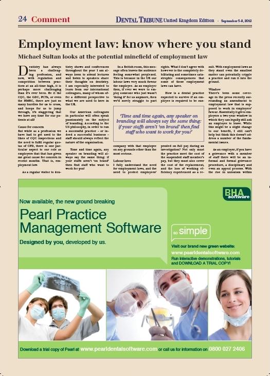 Dental Tribune article (p1/2)