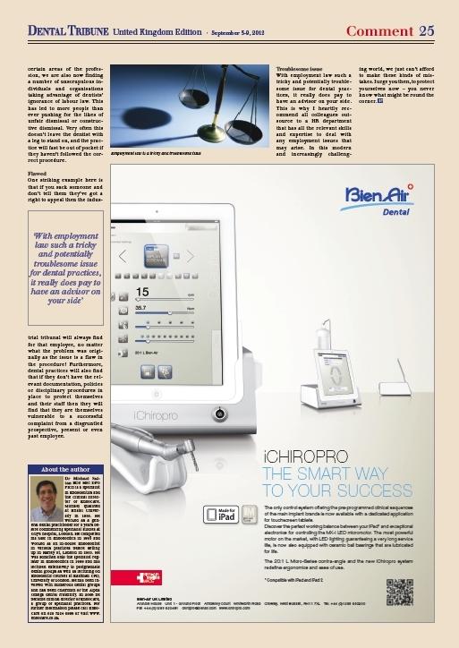 Dental Tribune article (p2/2)
