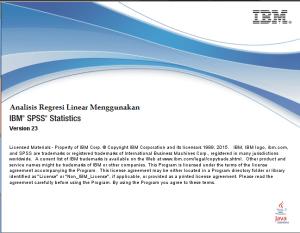 Regresi Linier Berganda Menggunakan SPSS – Data Cross Section