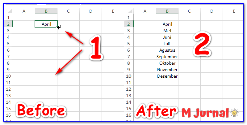 AutoFill Range Cell Excel