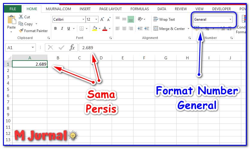 Desimal Excel