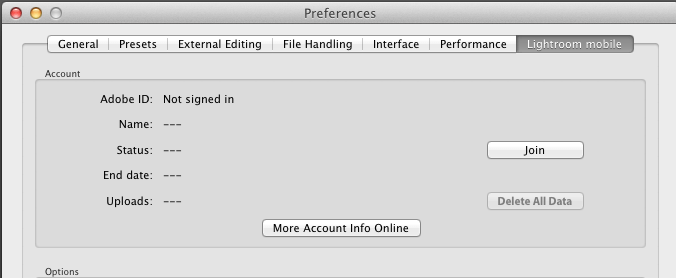 Adobe Lightroom turning off default tracking