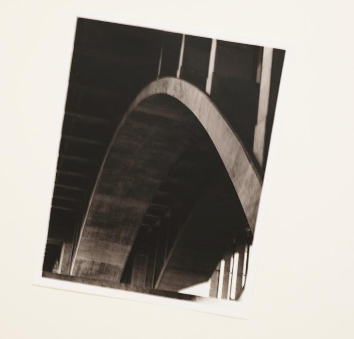 black and white photography urban scene film darkroom print
