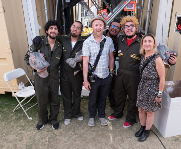 Dedo Vabo and The Red Pears posing backstage shot with the Fuji GFX 50s