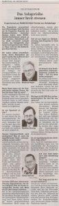 Als Experte des Bundesverbandes Deutscher Banken beim Telefonforum der Lausitzer Rundschau am 28.03.2009 Teil 2