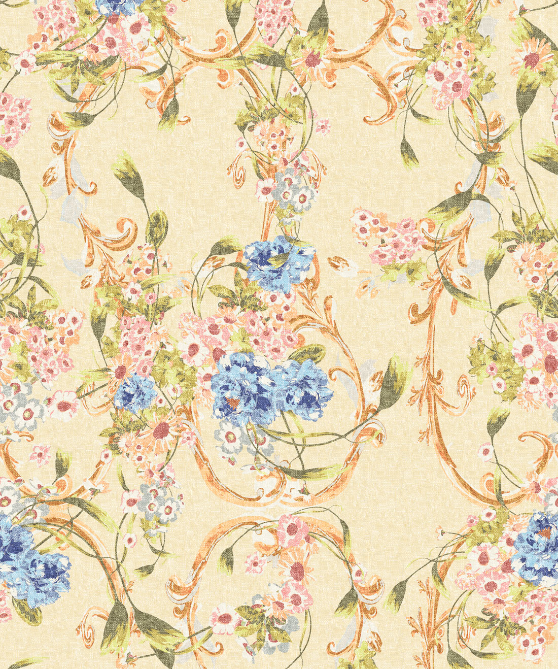 Dainty Vintage Florals Ditsy Floral Wallpaper Milton King