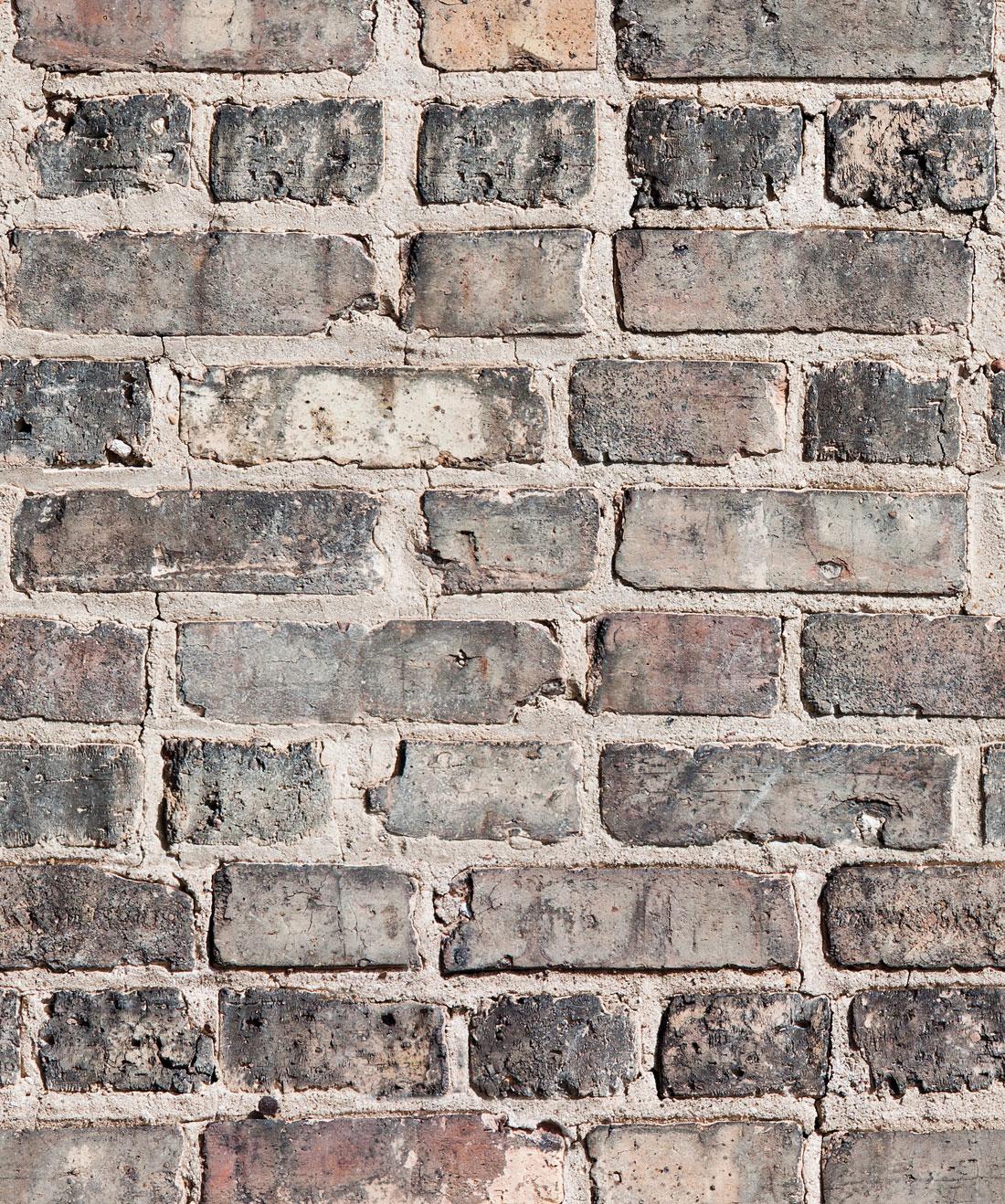 Vintage Bricks Wallpaper Realistic Authentic Milton King