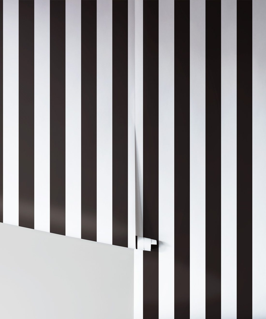 Black White Stripe Wallpaper Bold Yet Elegant Milton King