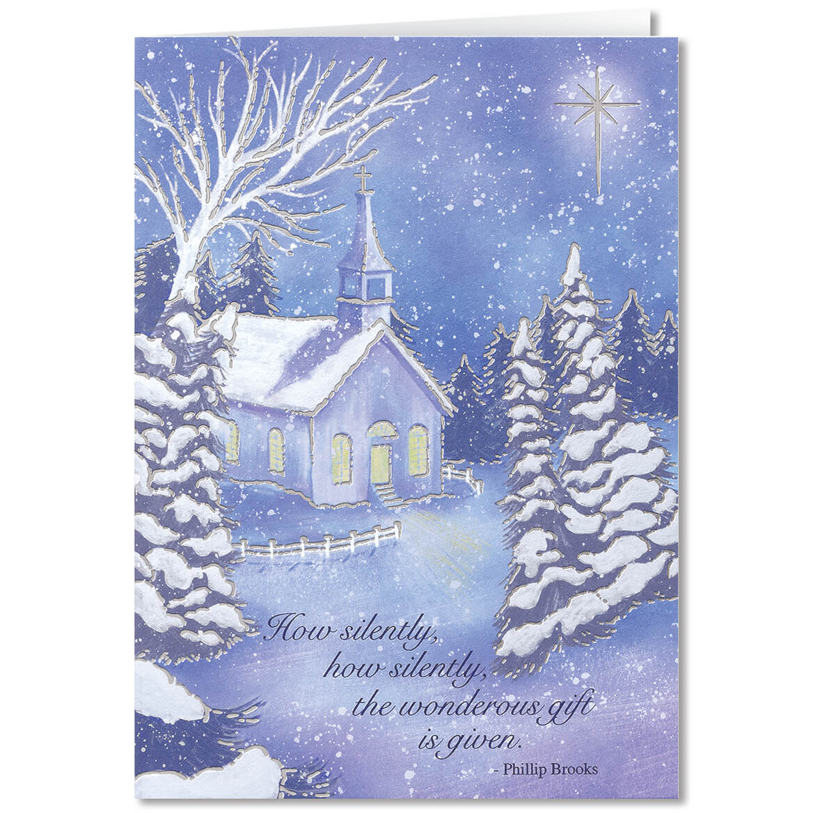 Personalized Twilight Chapel Christmas Card Set Of 20