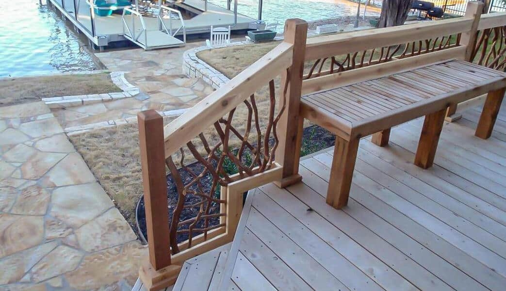 Mountain Laurel Handrail Wood Railings Decks Stairs | Wooden Handrails For Steps | Iron | Different Kind Wood | Wood Patio | Rustic | Staircase Wooden