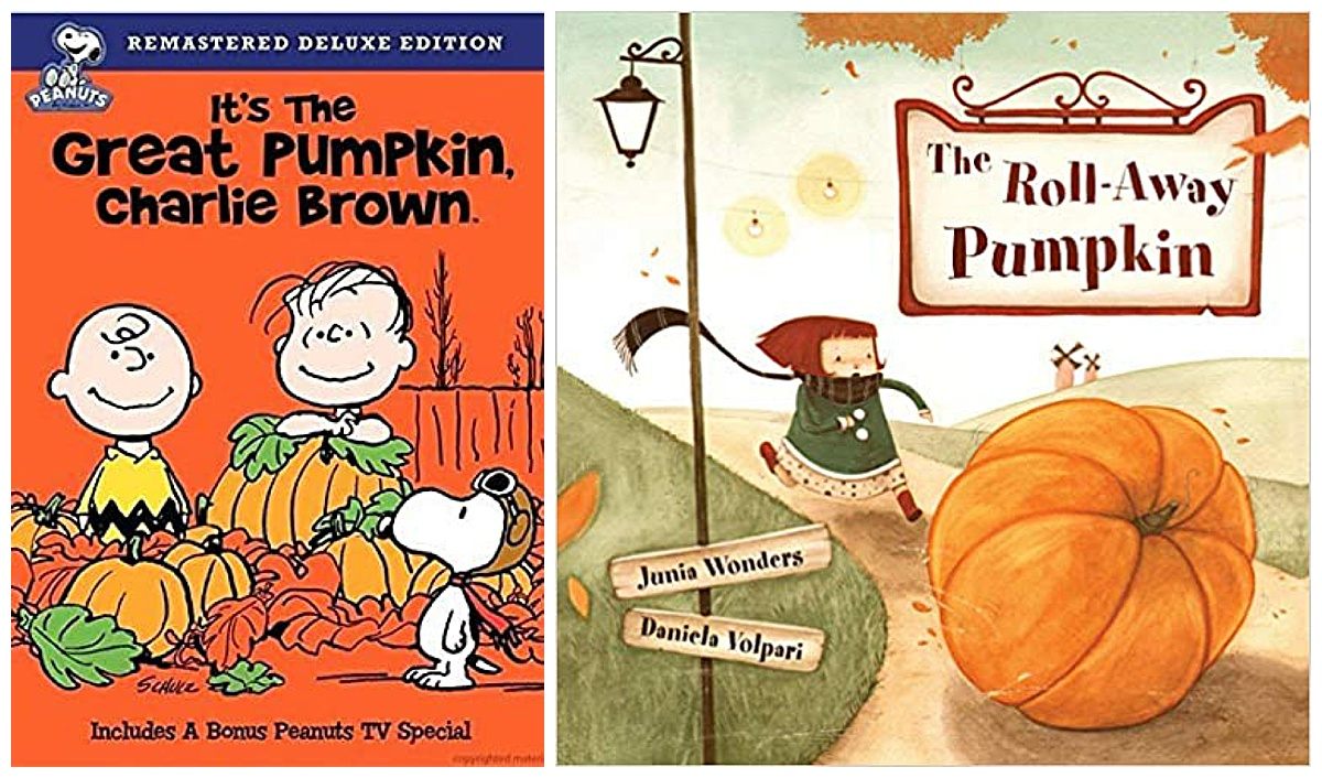 It's the Great Pumpkin, Charlie Brown movie and the Roll-Away Pumpkin book