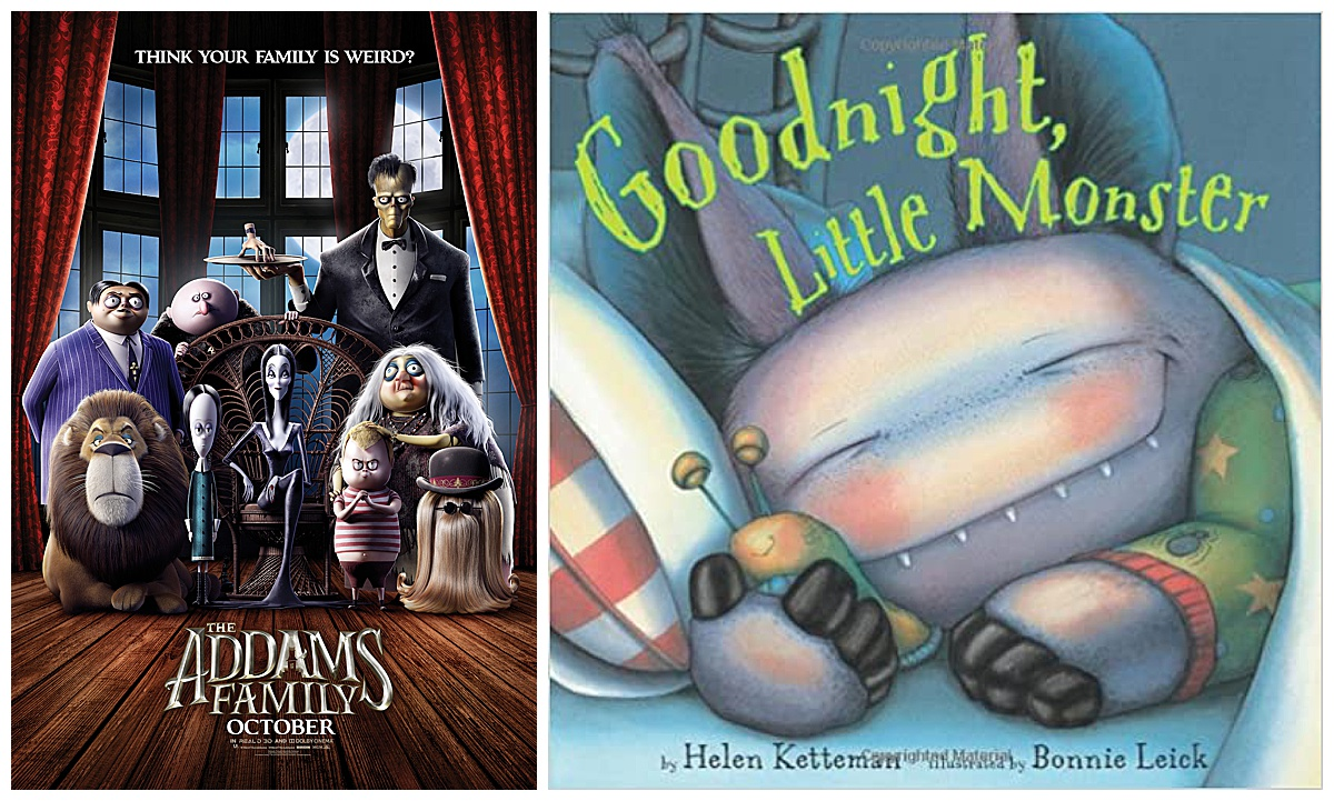The Addams Family movie and Goodnight, Little Monster book