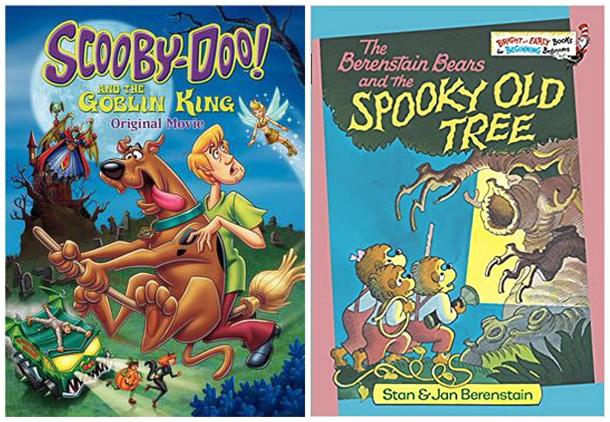 Scooby-Doo and the Goblin King movie and The Berenstain Bears and the Spooky Old Tree book