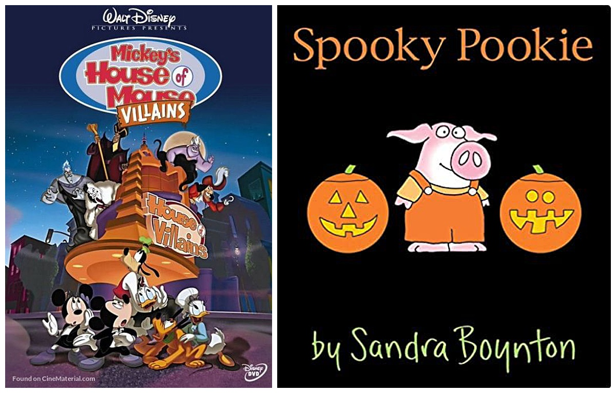 Mickey's House Of Villains movie and Spooky Pookie book
