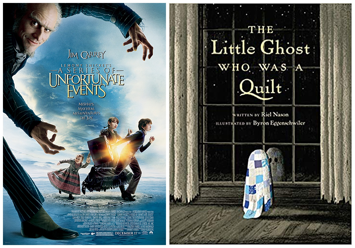 Lemony Snicket's A Series of Unfortunate Events movie and The Little Ghost Who Was a Quilt book